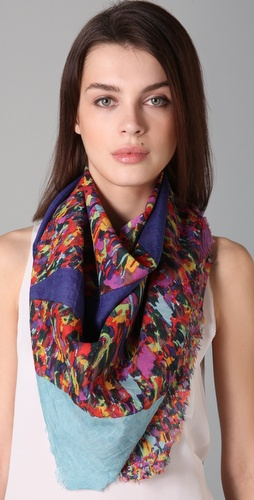 Madewell Tickertape Sky Print Scarf