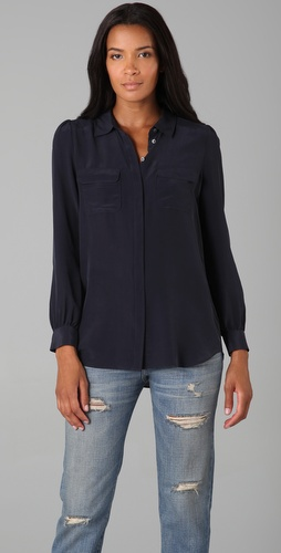 Madewell Silk Bookmark Blouse