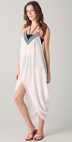 buy Mara Hoffman Beaded Dashiki Cover Up by Mara Hoffman online swimsuits shop