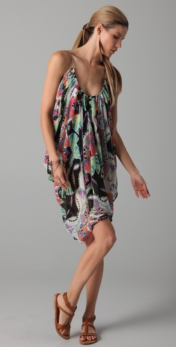 buy Mara Hoffman Short Draped Chiffon Dress by Mara Hoffman online swimsuits shop