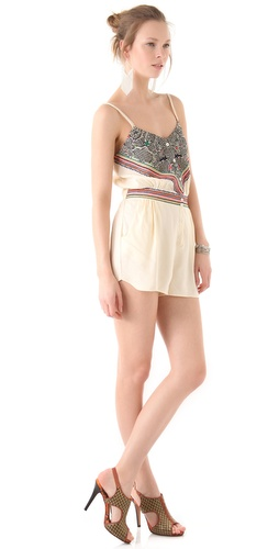 buy Mara Hoffman Embroidered Romper by Mara Hoffman online swimsuits shop