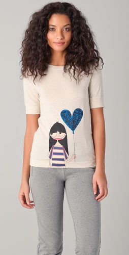 Marc by Marc Jacobs Miss Marc Heart Afloat Tee