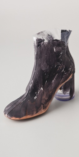 Maison Martin Margiela Painted PVC Booties