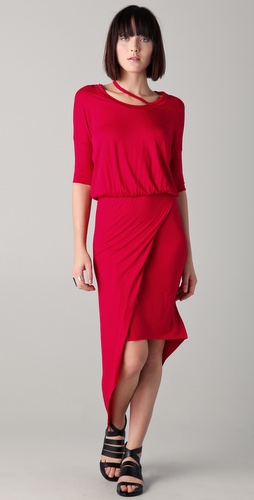 Mason by Michelle Mason Asymmetrical Hem Dress