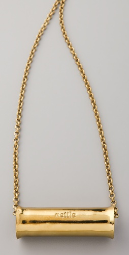 Mettle Long Concave Cylinder Pendant Necklace