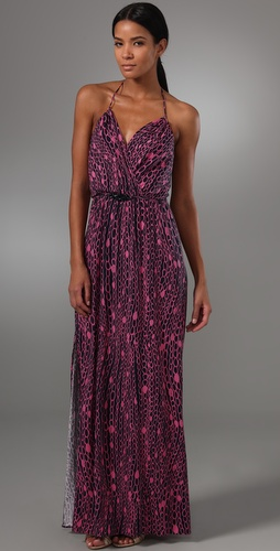 Milly Chain Print Halter Maxi Dress