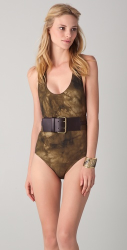 buy Michael Kors Collection Lebombo Tie Dye Belted Maillot by Michael Kors Collection online swimsuits shop