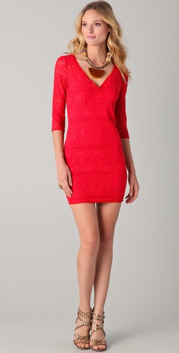 Of Two Minds Denna Stretch Lace Dress