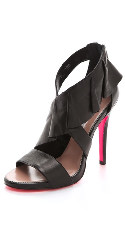 Buy ONE by High Heel Ruffle Sandals - ONE by online - Footwear, Womens, Footwear, Sandals, at Heel Addict Online Shoe Shop