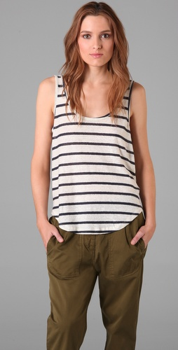 Patterson J. Kincaid Reverse Stripe Temple Tank