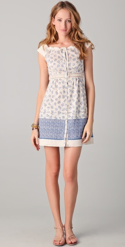 PHILOSOPHY DI ALBERTA FERRETTI Blue Floral Dress