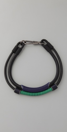 3.1 Phillip Lim Double Leather Circuit Collar Necklace
