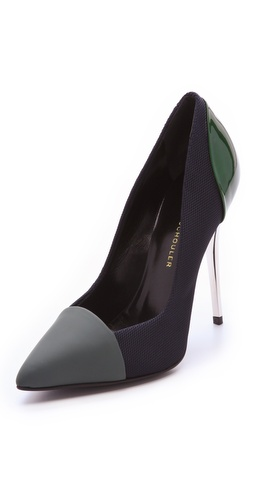 Proenza Schouler Colorblock Cap Toe Pumps