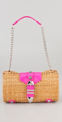 Rebecca Minkoff Straw with Neon Fairy Tale Bag