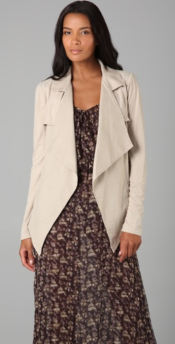 Robbi & Nikki Draped Twill Jacket