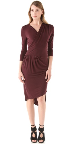 Robert Rodriguez Draped Asymmetrical Dress