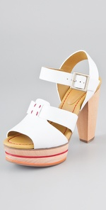 See by Chloe Wooden Platform Sandals