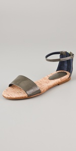 See by Chloe Zip Cork Flat Sandals