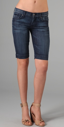 7 For All Mankind Mid Manhattan Denim Shorts