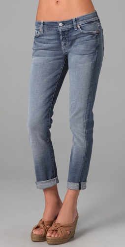 7 For All Mankind Josefina Skinny Boyfriend Jeans