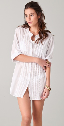 buy Shoshanna Oversized Button Down Cover Up by Shoshanna online swimsuits shop