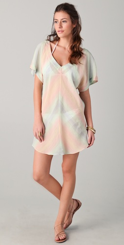 buy Shoshanna Pastel Striped Cover Up Tunic by Shoshanna online swimsuits shop