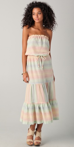 buy Shoshanna Pastel Striped Cover Up Dress by Shoshanna online swimsuits shop