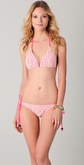 Shoshanna Crochet Hot Pink Triangle Bikini Top