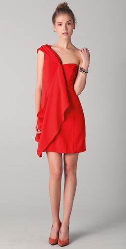 Shoshanna Mackenzie One Shoulder Dress