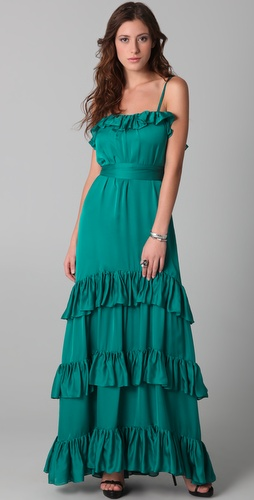 Temperley London Long Pleated Venus Dress