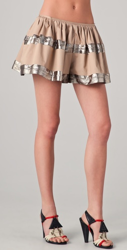 Thakoon Banded Full Shorts