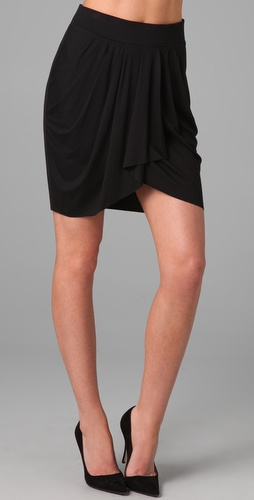 Three Dots Draped Skirt