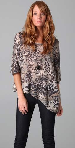 Torn by Ronny Kobo Walker Animal Patchwork Tee