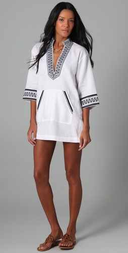 buy Tory Burch Gauze Tunic by Tory Burch online swimsuits shop