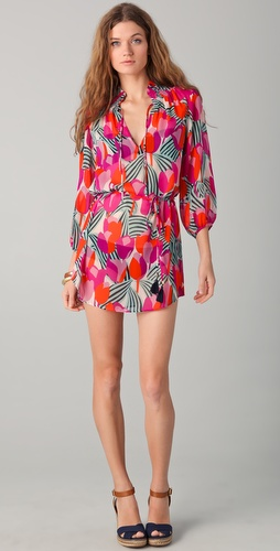 buy Tory Burch Print Silk Cover Up Dress by Tory Burch online swimsuits shop