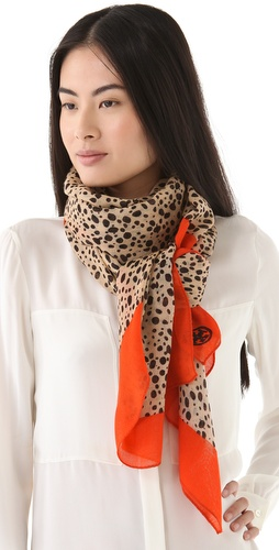 Tory Burch Cheetah Scarf