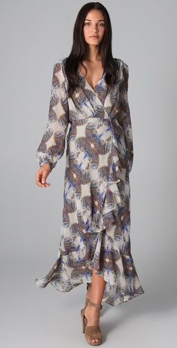 Twelfth St. by Cynthia Vincent Cascade Ruffle Maxi Dress