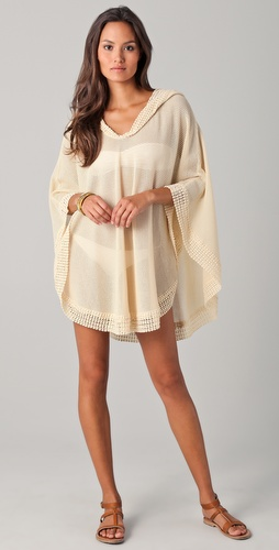 buy Undrest Fisherman Knit Cover Up Poncho by Undrest online swimsuits shop