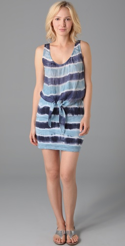 striped tie dye. This scoop neck tie dye tank