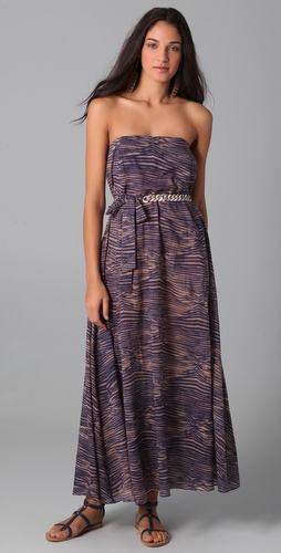 buy Zimmermann Dreamer Strapless Chain Maxi Dress by Zimmermann online swimsuits shop