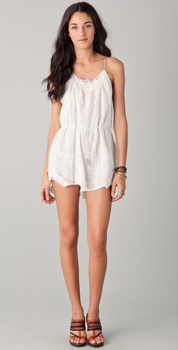 buy Zimmermann Devoted Lace Playsuit by Zimmermann online swimsuits shop