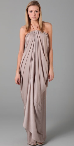 Acne Delirious Draped Long Dress from shopbop.com