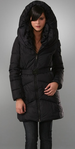 Long Belted Puffer Coat - Add Down from shopbop.com