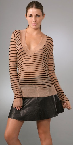 A.L.C. - Stripe V Neck Sweater from shopbop.com