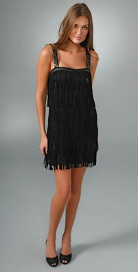 Alice + Olivia Fringe Dress