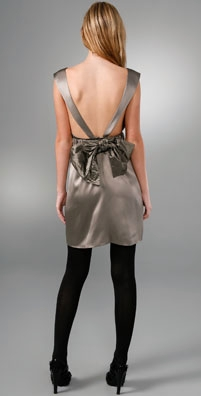 Alice + Olivia Open Back Bow Dress with Elastic Belt - shopbop.com