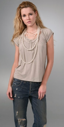 Alice + Olivia Pretty Pearl T-Shirt