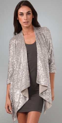 Alice + Olivia Steph Sequin Cascade Cardigan from shopbop.com