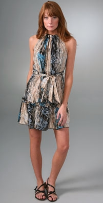 Anna Sui Sketched Rice Paddy Sleeveless Dress