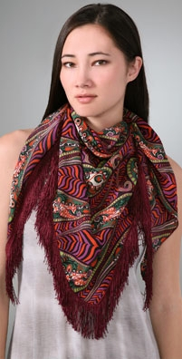 Anna Sui Psychedelic Paisley Scarf